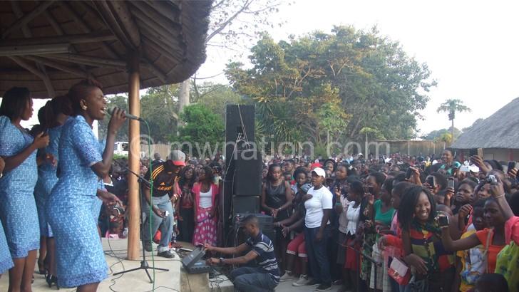 Great Angels Choir during the Mzuzu launch of their Mwasankha Ine album
