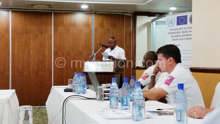 MBS Director General Davlin Chokazinga speaking during the commemoration