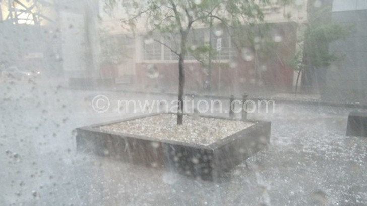Nchalo was hit by a hailstorm such as this one