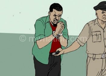 An illustration of an arrest