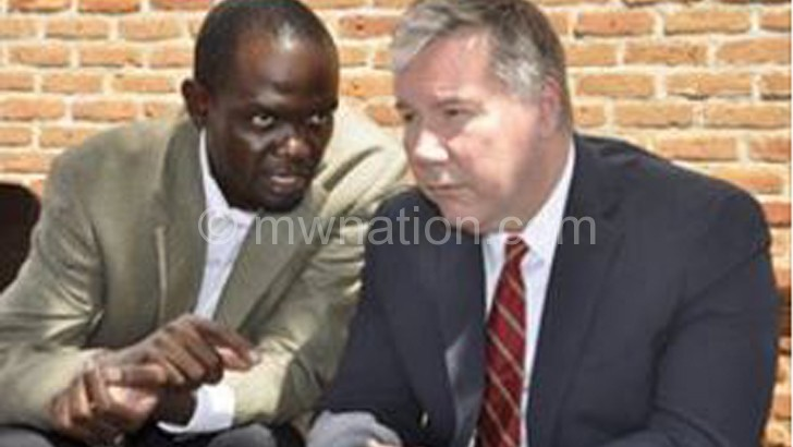 Matewere (L) and Barner (R) sharing notes