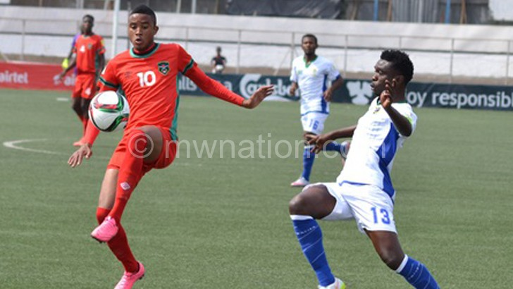 The Flames in action against Tanzania