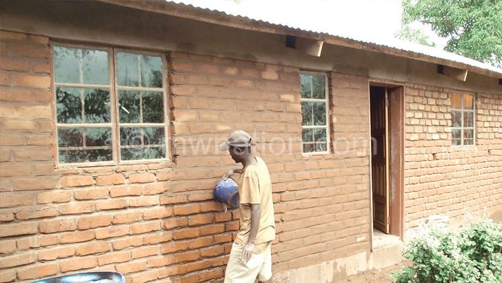 A  Malata subsidy  house under construction