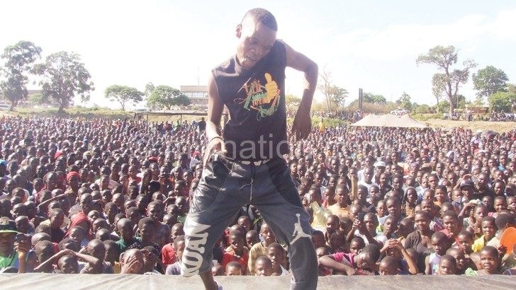 Makawa shows off his dancing skills during the event