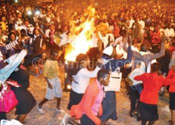 A gathering at one of the Daniel Kolenda's crusade