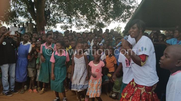 Kamwendo-Banda (R): I compose a song when I listen to a preaching