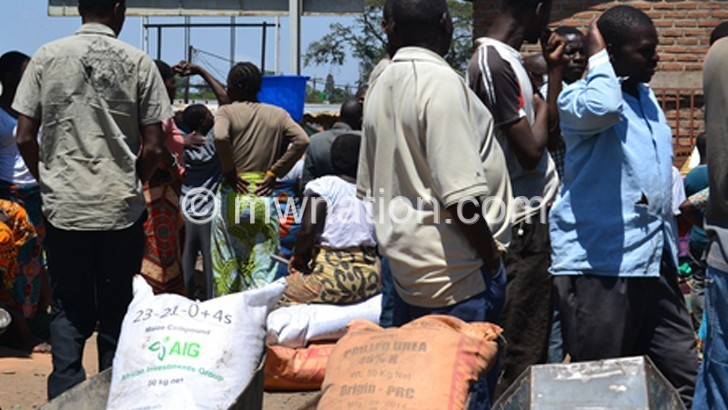 Fisp beneficiaries wait to buy the farm inputs