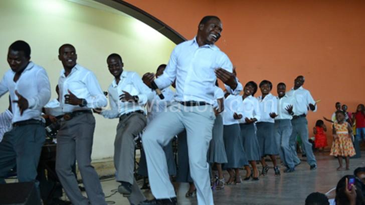 The Great Angels Choir in door-to-door performances