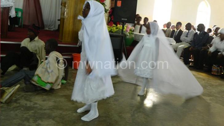 Sunday School children perform the nativity play
