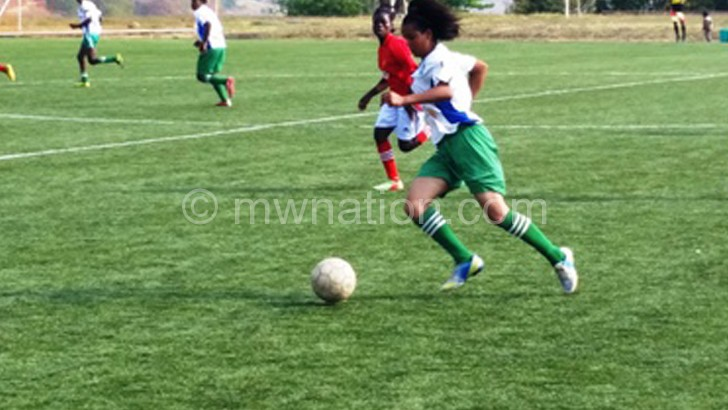 Women football action
