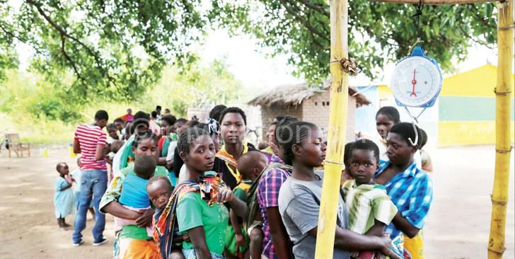 Safe motherhood:  Women attending an under-five clinic in Blantyre