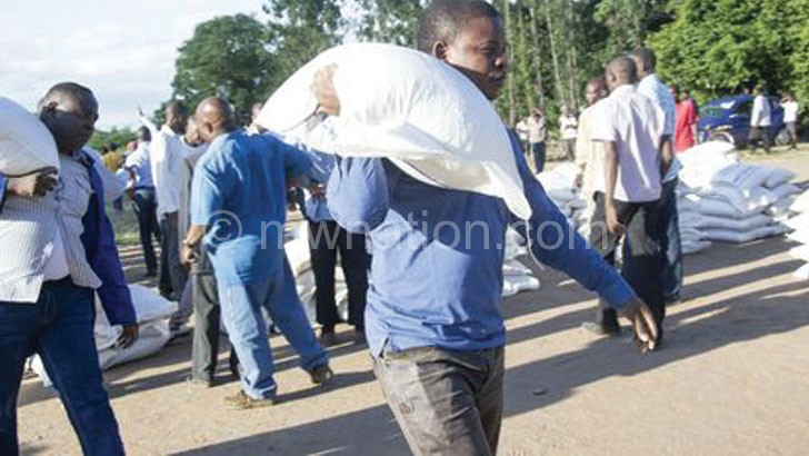 Bushiri during a previous maize distribution exercise