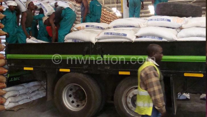 File photo: A consignment of fertiliser