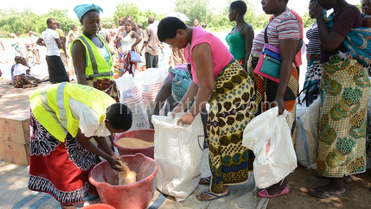 Beneficiaries getting their share