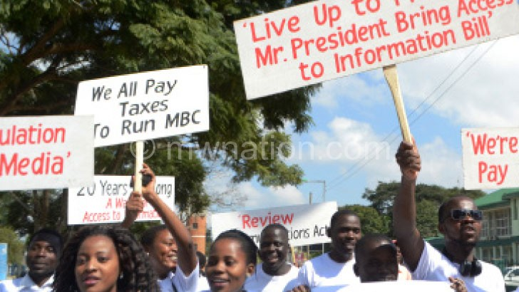 Flashback: Journalists marching to demand the passing of the ATI Bill