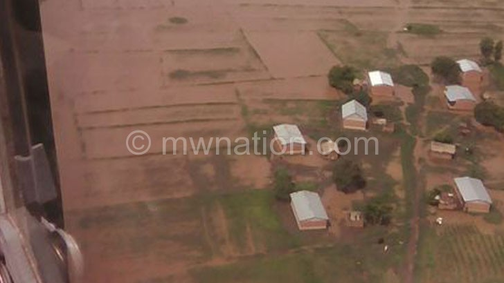 An aerial view of the situation