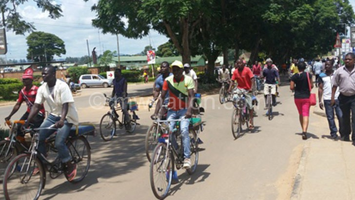 Bicycle taxis such as these will continue to operate in Mangochi