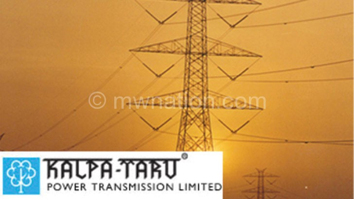 A transmission pole erected by Kalpataru elsewhere in the world