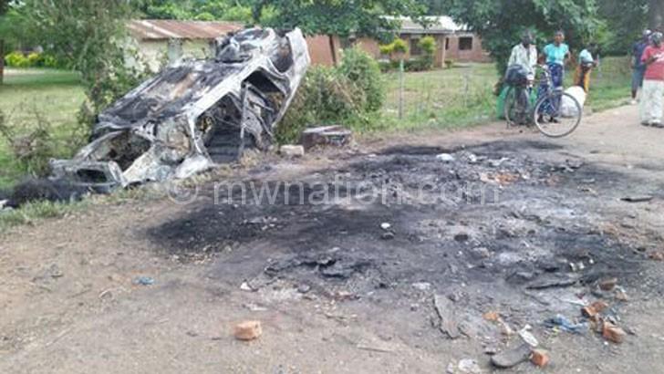 burnt car | The Nation Online