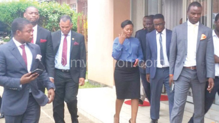 Bushiri (L) arriving at FAM offices at Chiwembe in Blantyre