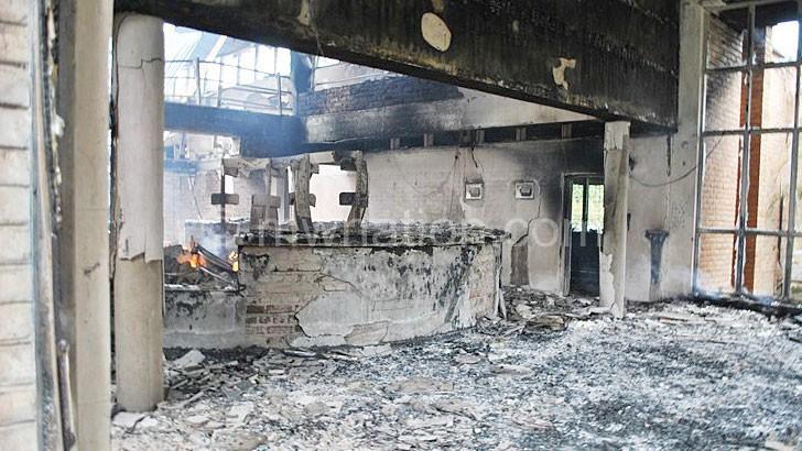 Mzuni's burnt down library