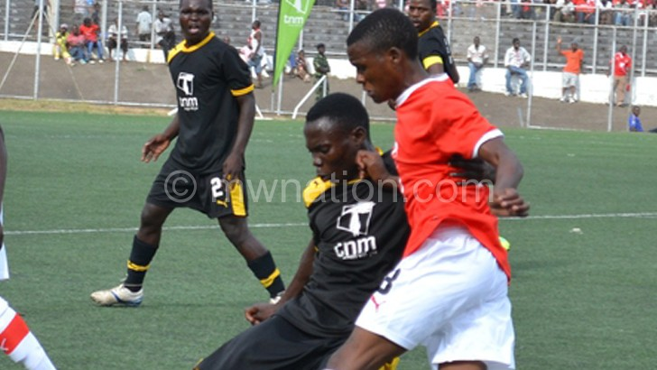 Big blow: Karonga United (in black) will have to  find another sponsor