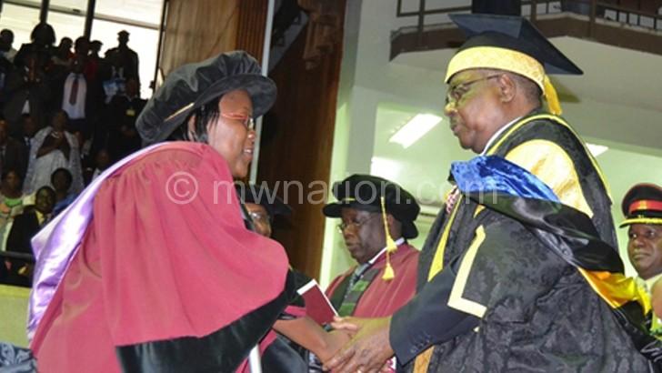 Mutharika presidIning over a Unima congregation, many students are failing to raise tuition fees