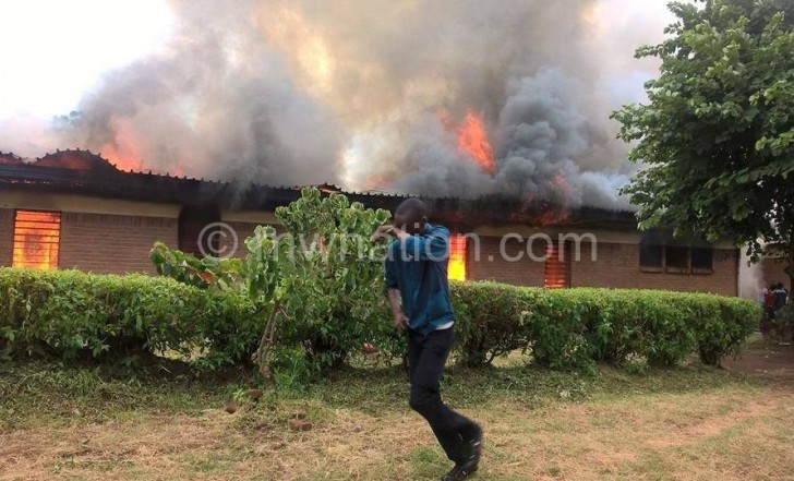 The hostel on the day of the fire accident
