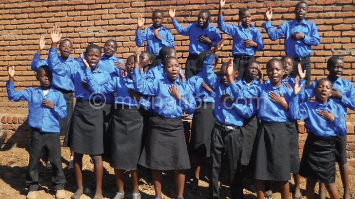 The winning Chinamwali Sunday School Choir