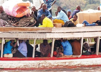Pupils join other passengers in this boat ride to sit for examinations