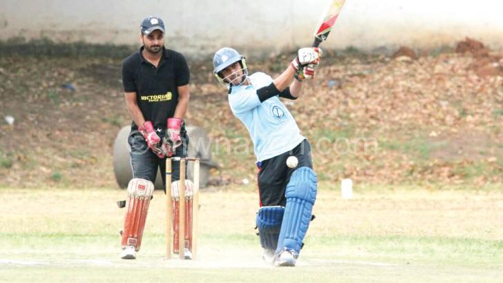 Cricket action between Grey and ISC