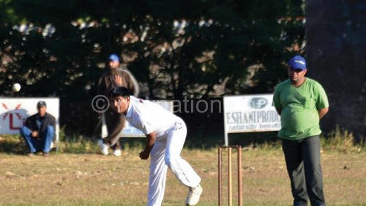 Cricket action between MSC Silver and MSC Blue last weekend
