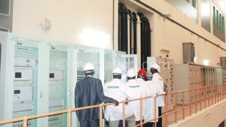 Escom has a deficit in power generation due to lower water levels
