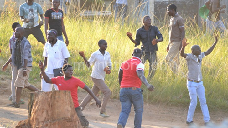 Fans in running battles with MDF soldiers during the fracas