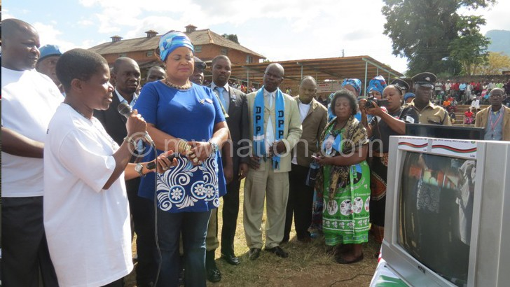 Kaliati is briefed on the Kiliye Kiliye project during her visit in Zomba