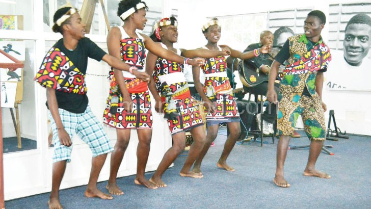 Jacaranda Cultural Troupe performs at the opening event