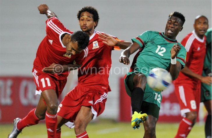 Flames taking on Madagascar at last year's Cosafa tourney