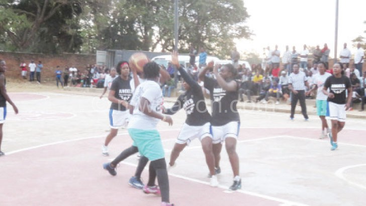 Action in last weekend's King and Queen of the Court Tournament