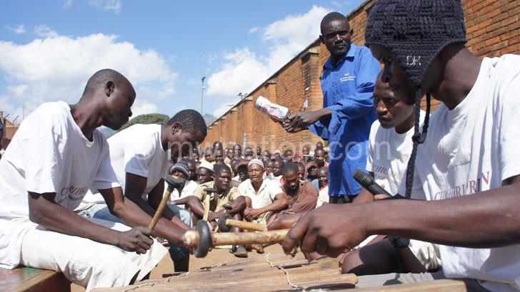 Chichiri Prison Troupe entertain fellow inmates with a mangolongondo performance