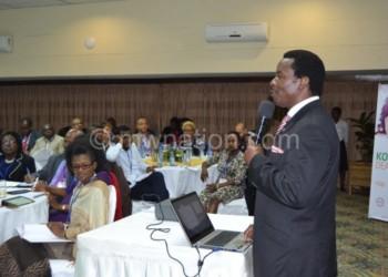 Kawalala addresses the gathering
