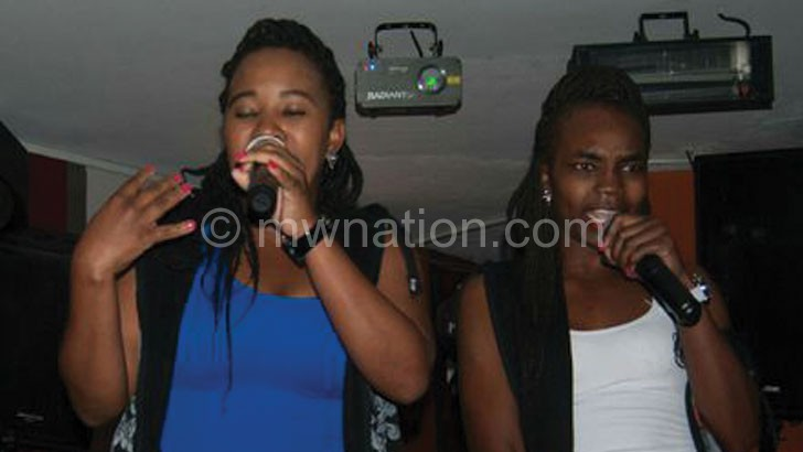 Reedivah Queen (R) and Shinely Greens during last week's performance in Durban