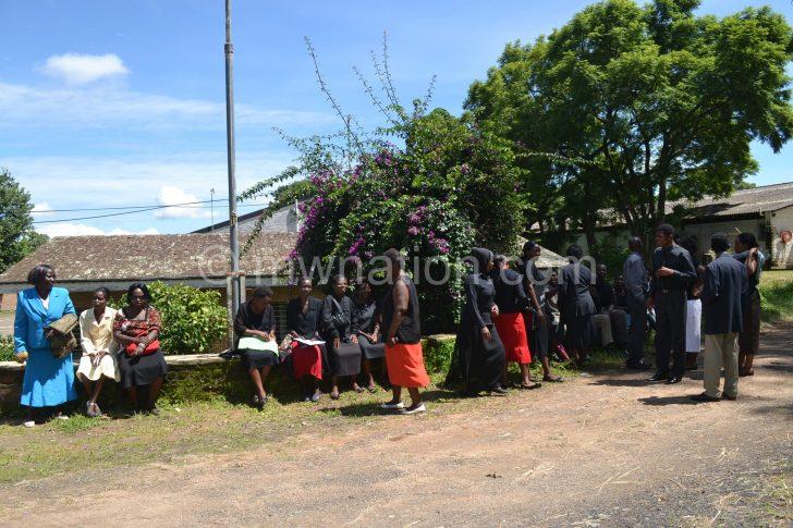 Teachers are seen in a previous strike