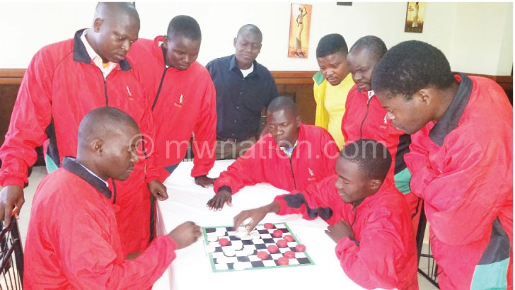 Draughts squad players captured fine-tuning their moves at MNCS on Wednesday