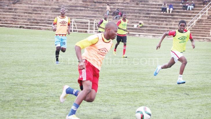 Under-17 training session at Mpira Stadium