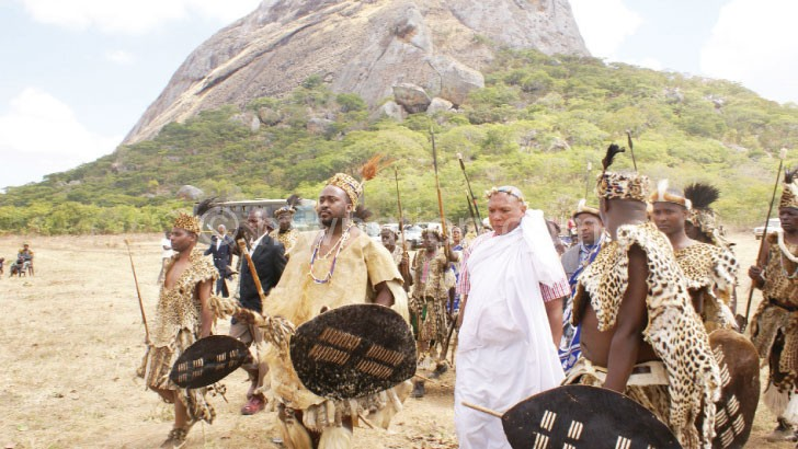 Chiefs annually hold Umgubho at the tomb of of Inkosi ya Makosi M'mbelwa I