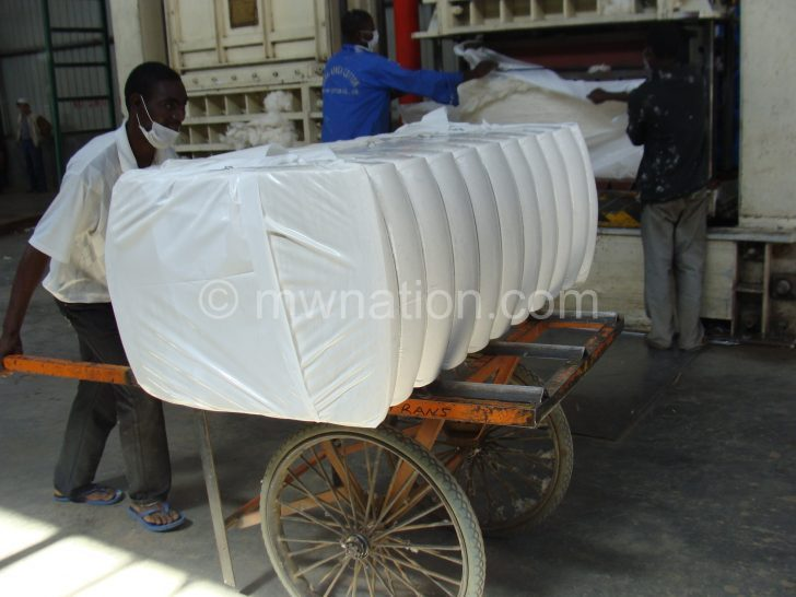 Cotton packaged ready for export