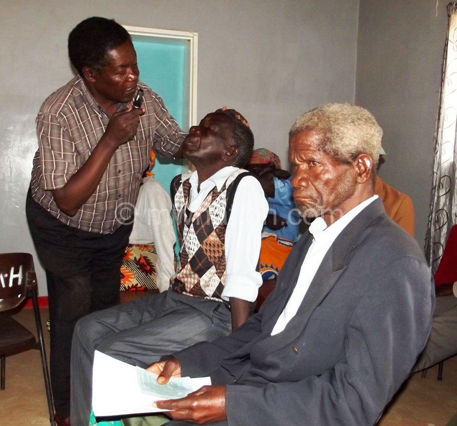 The monthly eye clinic in progress in Kasungu