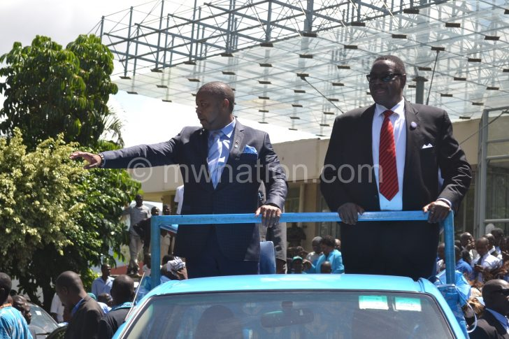 Mutharika and Chilima during the good days