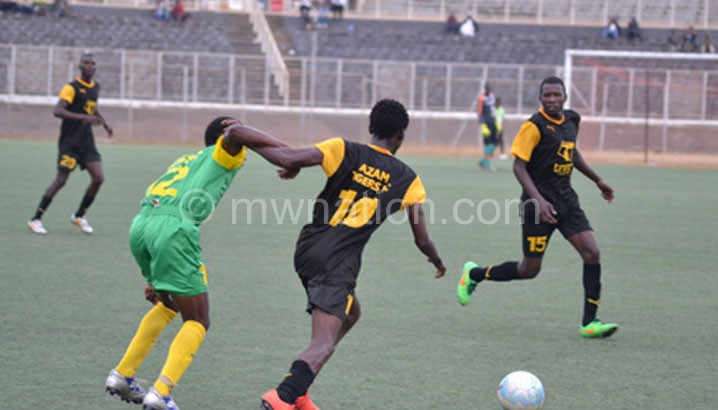 Tigers (in black) in a previous league match