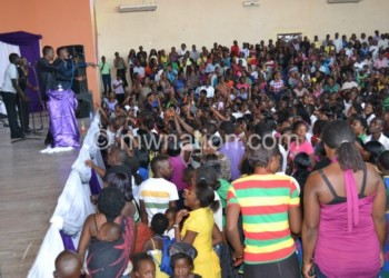 Patrons enjoy proceedings during a gospel show